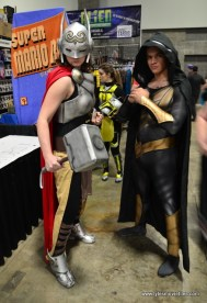 awesome con 2018 cosplay -jane foster thor and black adam
