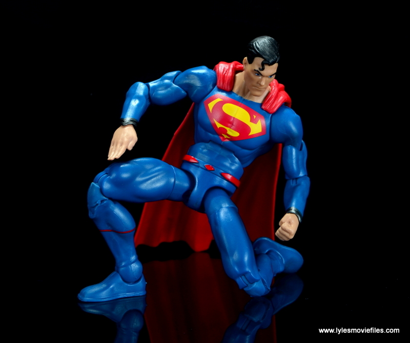 dc multiverse superman rebirth figure review - on one knee