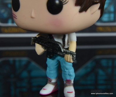 funko pop aliens ripley figure review -gun and pants detail