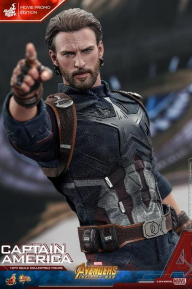 hot toys avengers infinity war captain america -movie promo pointing