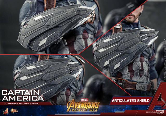 hot toys avengers infinity war captain america - shield close up