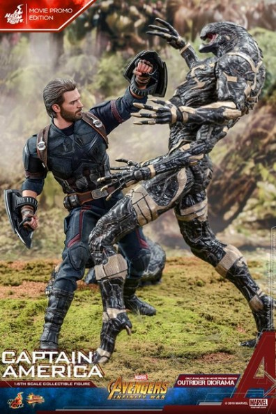 hot toys avengers infinity war captain america -vs outrider