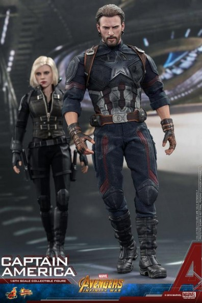 hot toys avengers infinity war captain america -walking with black widow