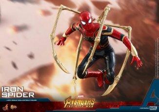 hot toys avengers infinity war iron spider-man figure -attack mode