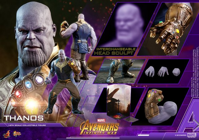hot toys avengers infinity war thanos figure - collage