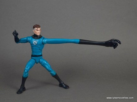 marvel legends mister fantastic figure review - reaching out with left extended arm