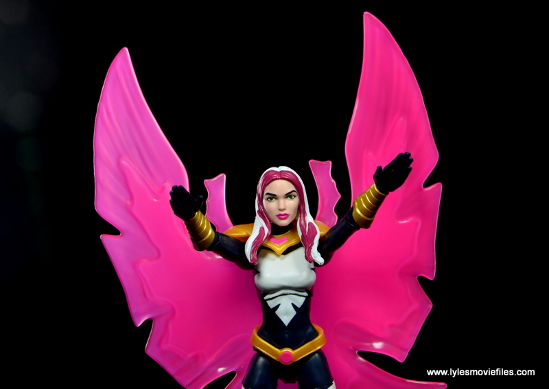 marvel legends songbird figure review - bird effect closeup