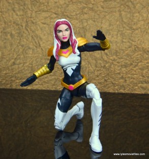 marvel legends songbird figure review - kneeling