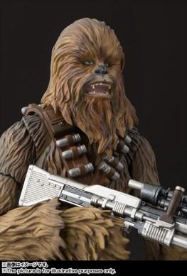 sh figuarts solo chewbacca figure - open mouth with gun