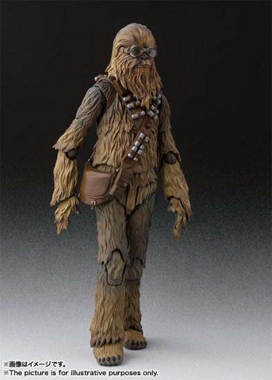 sh figuarts solo chewbacca figure -walking off