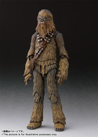 sh figuarts solo chewbacca figure -wide shot