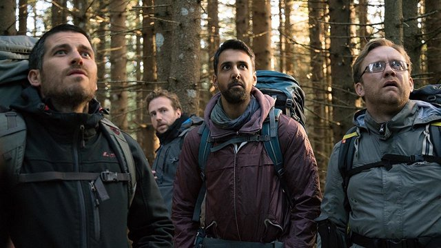 the ritual movie review - robert james-collier, rafe spall, arsher ali and sam troughton