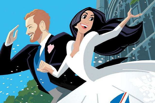 the royals prince harry and meghan markle wedding cover-001
