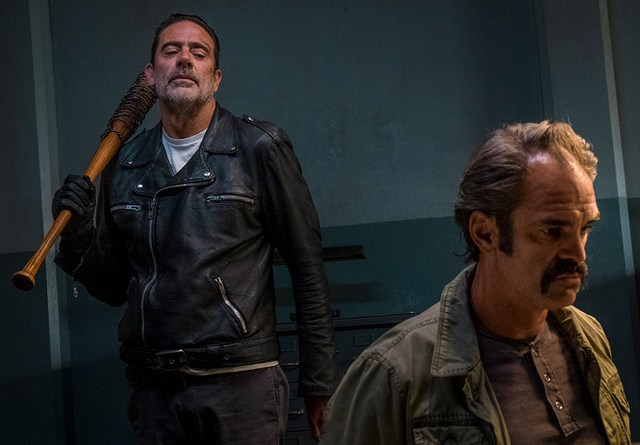 the walking dead worth review -negan and simon