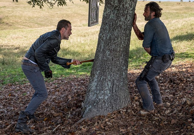 the walking dead wrath review - negan vs rick