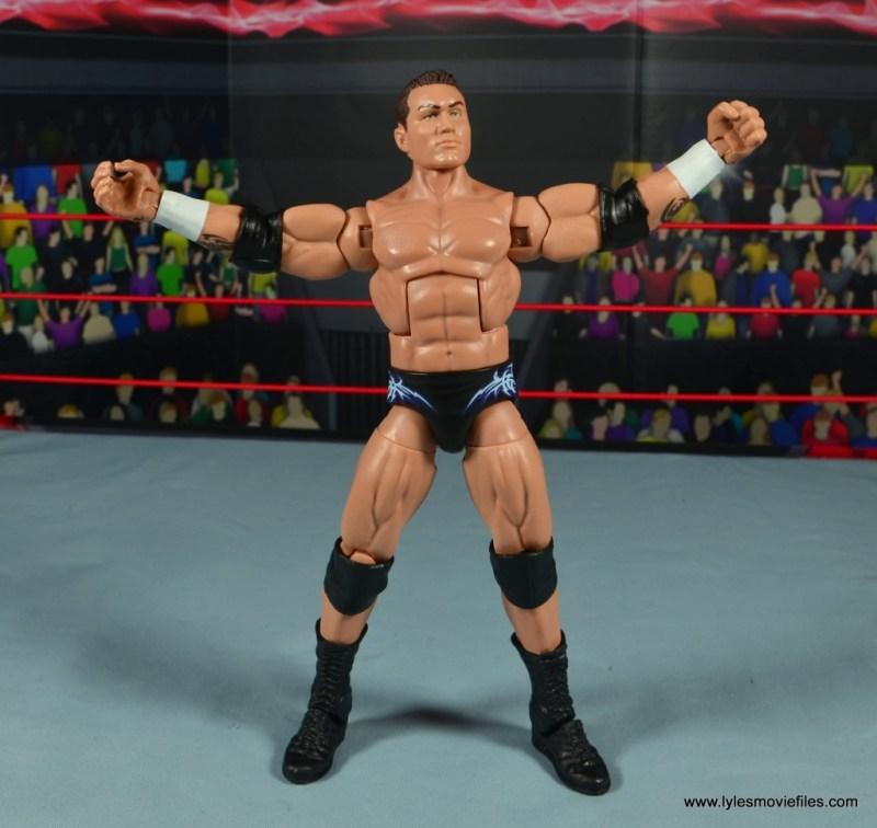 wwe elite 49 randy orton figure review - taunt pose