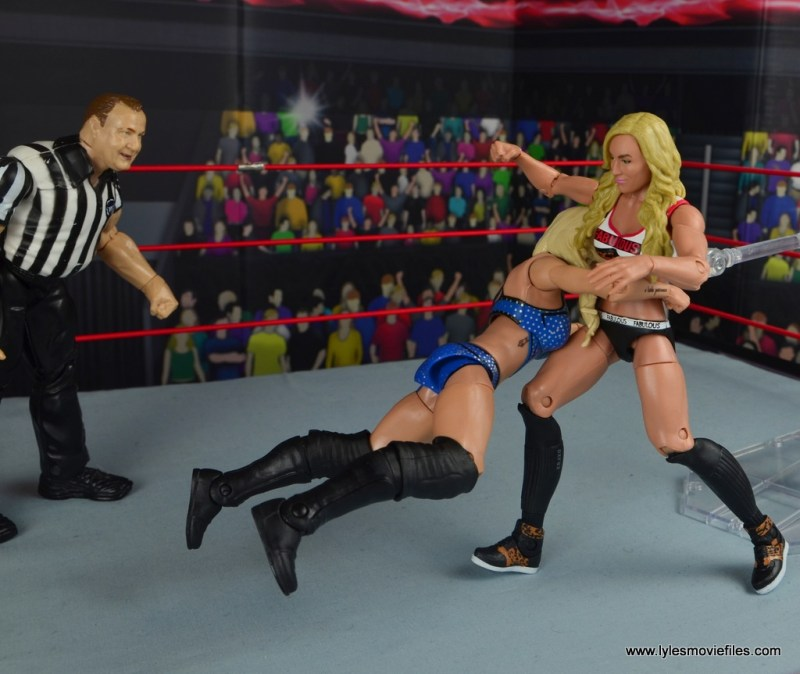 wwe elite 54 charlotte flair figure review - spear to carmella