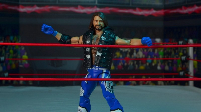 wwe elite 56 aj styles figure review - bouncing off the ropes