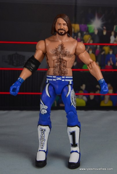 wwe elite 56 aj styles figure review - front