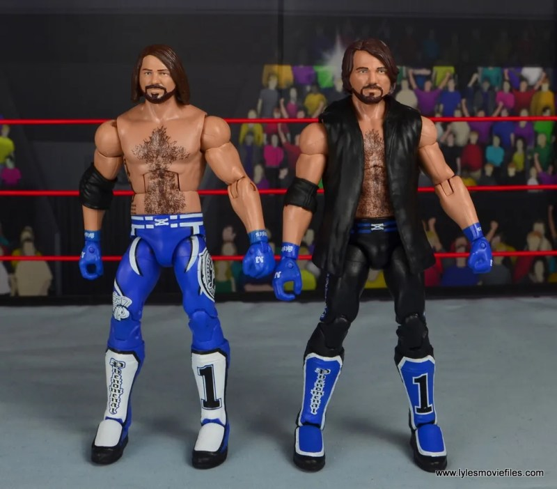 wwe elite 56 aj styles figure review - with first aj styles figure