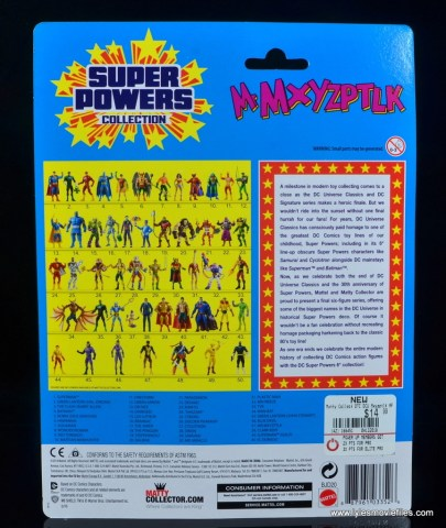 DC Signature Series Mister Mxyzptlk figure review - package rear