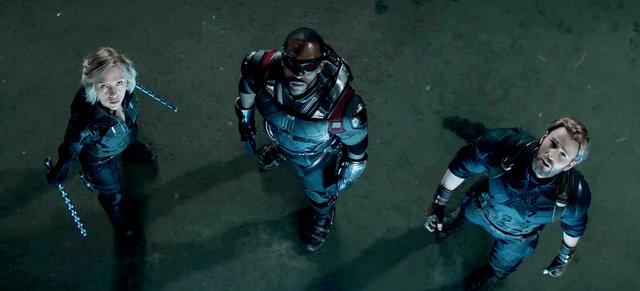 avengers infinity war - black widow, falcon and captain america