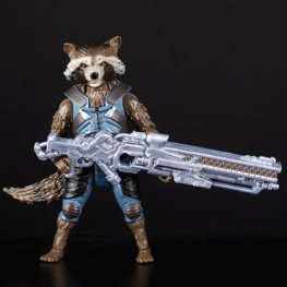 avengers infinity war marvel legends thor, groot and rocket pack - rocket with gun