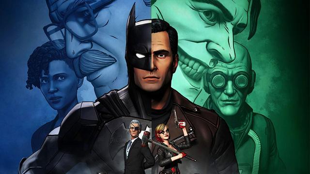 batman the enemy within - tiffany, commissioner gordon, alfred, batman, bruce wayne, harley quinn, john and mr. freeze