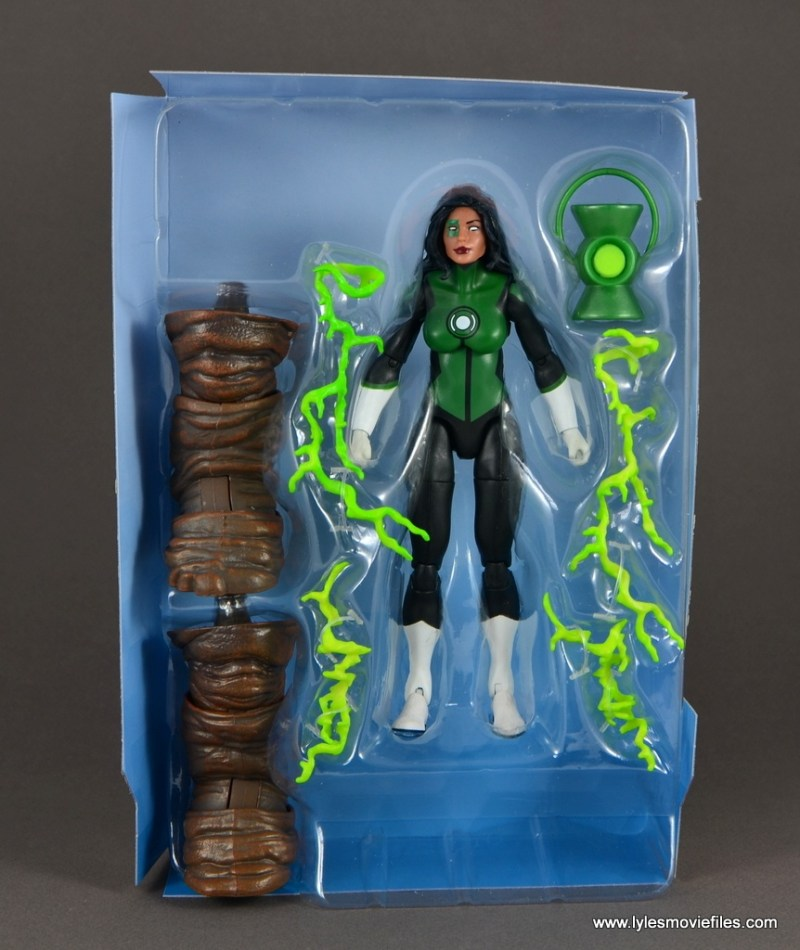 dc multiverse jessica cruz figure review - accessories on tray
