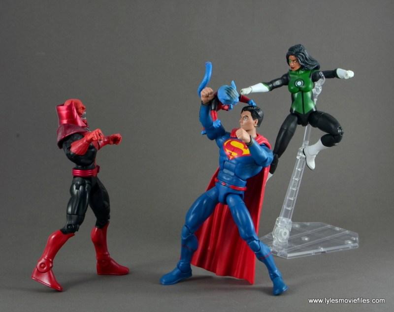 dc multiverse jessica cruz figure review - with superman vs red lanterns