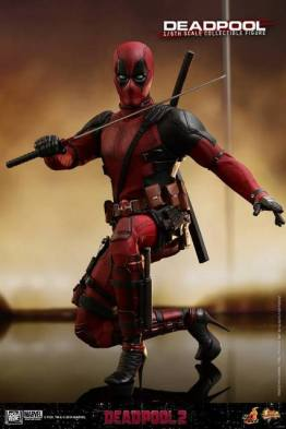 hot toys deadpool 2 figure - in stilletos