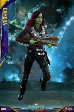 hot toys guardians of the gamora vol. 2 gamora figure -flying