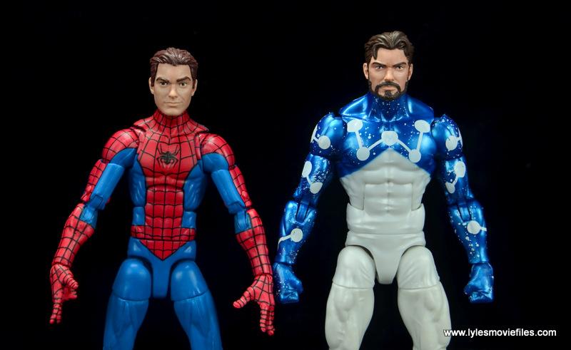 marvel legends cosmic spider-man figure review -peter parker heads