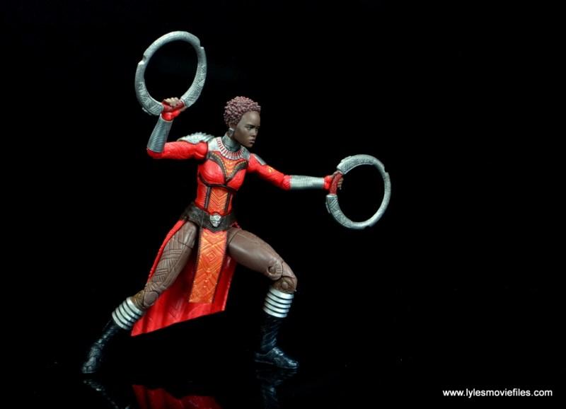 marvel legends nakia figure review - charging into battle