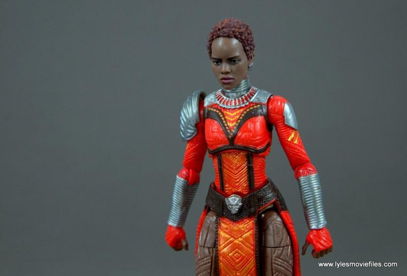 marvel legends nakia figure review - close up