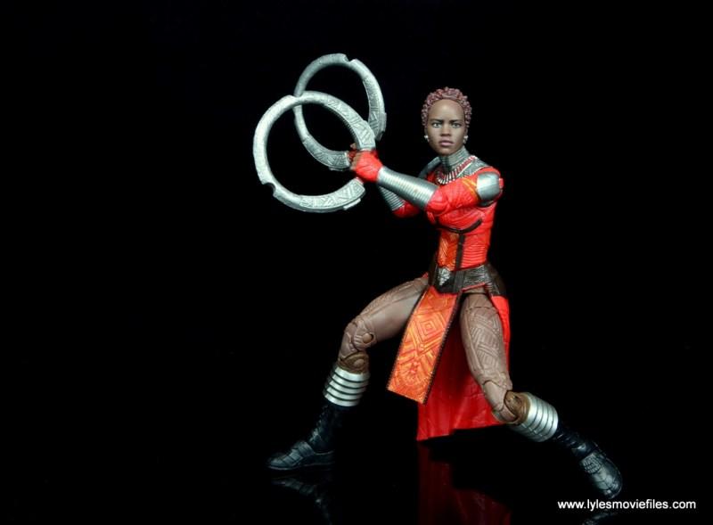 marvel legends nakia figure review - deep fighting stance