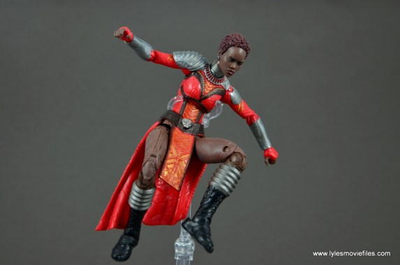 marvel legends nakia figure review - leaping