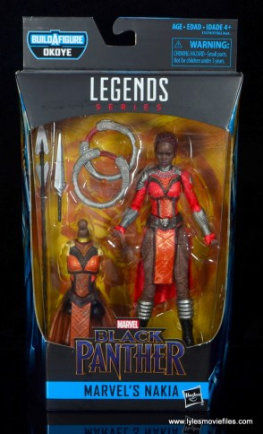 marvel legends nakia figure review - package front