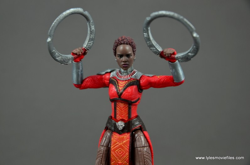 marvel legends nakia figure review - weapons ready