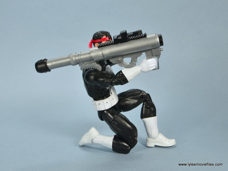 marvel legends the punisher retro figure review - kneeling with bazooka