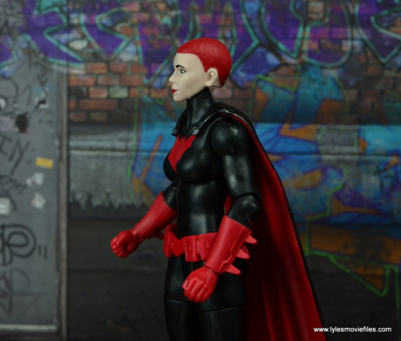 dc multiverse batwoman figure review - scale with batwing and batman