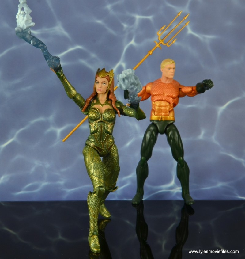 dc multiverse mera figure review - fighting with aquaman