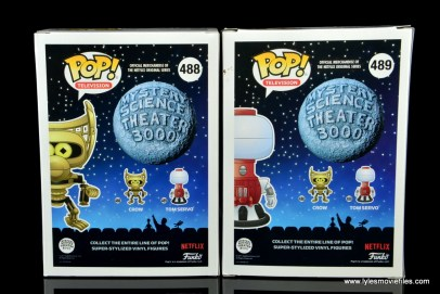 funko pop crow t. robot and tom servo figure review - package rear