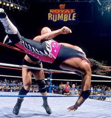hart/austin wrestlemania 13 austin eliminating hart at royal rumble