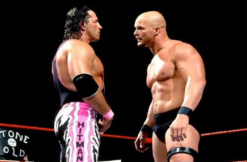 hart /austin wrestlemania 13 face off