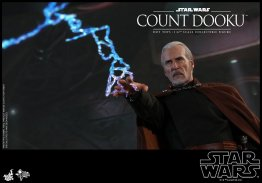 hot toys attack of the clones count dooku figure -lightning