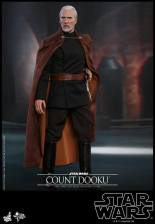 hot toys attack of the clones count dooku figure -reaching for lightsaber