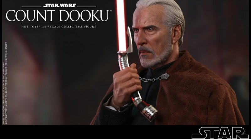 hot toys attack of the clones count dooku figure -saluting