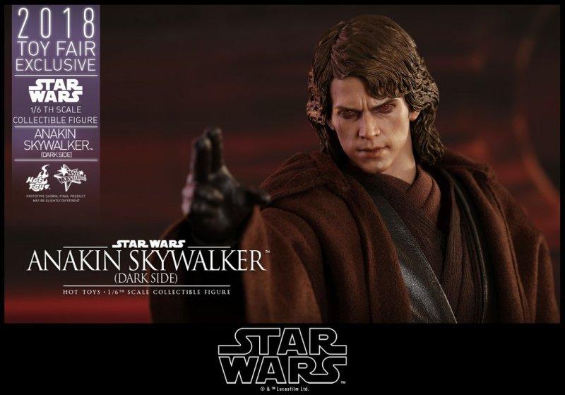hot toys dark side anakin skywalker figure -close up force choke