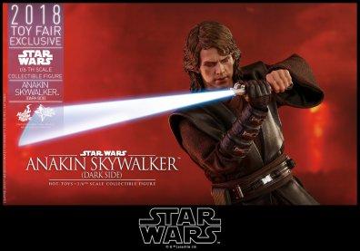 hot toys dark side anakin skywalker figure -lightsaber swinging